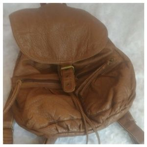 Mudd Bags - MUDD Brown Faux leather stylish back pack